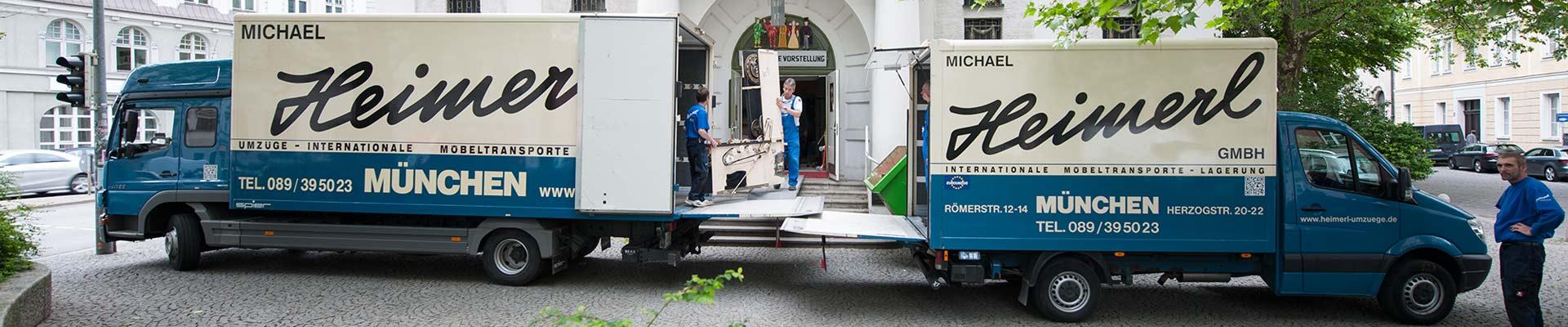Umzug des Marionettentheaters in München